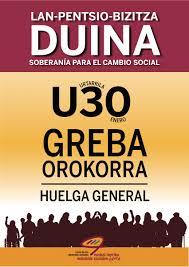 HUELGA GENERAL 30 ENERO